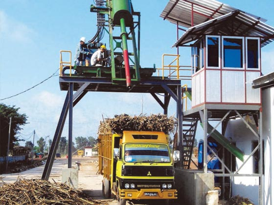 Sugarcane sampling machinery