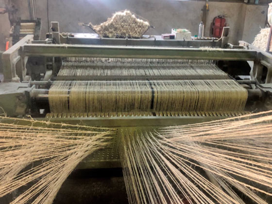 Polishing cloth loom